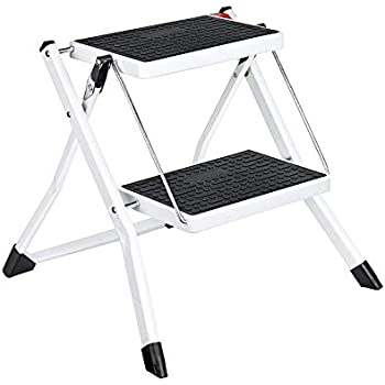 Brilliant Amazon Com Hafele Stepfix Step Stool White Gray Kitchen Evergreenethics Interior Chair Design Evergreenethicsorg