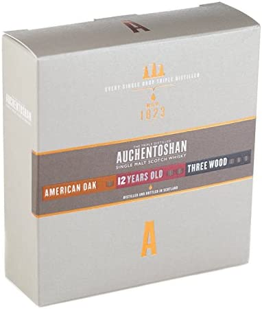 Auchentoshan Gift Collection (American Oak, 12YO, Three Wood) 41% - 3 x 50 ml in Giftbox