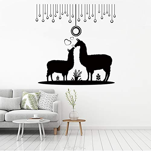- Pet equipment Llama Wall Decals, Llama Wall Decor,Home Wall Art Decal Suitable for Roomates Family Living Room Bedroom Vinyl Contemporary Baby Kids Rooms Vinyl Wall Decor(Black 20.4 X 20.8inches