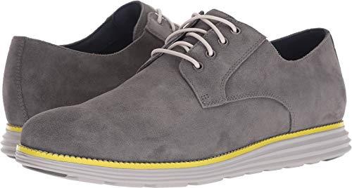 Cole Haan Men's Original Grand Plain Toe Sneaker, Magnet Suede/Vapor Grey/Sulphur Spring, 11.5 M US