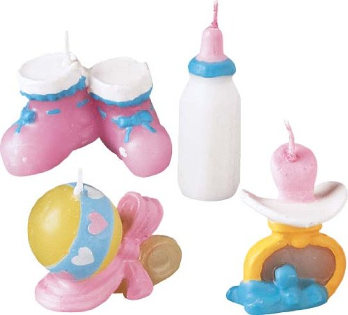 Wilton Baby Things 4 Piece Candle Set 2811-855