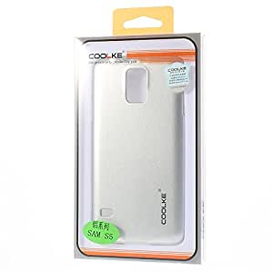 JUJEO Smooth Plastic Hard Shell Case for Samsung Galaxy S5 G900 - Non-Retail Packaging - Silver