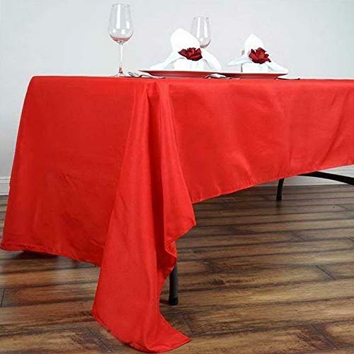 Mikash 5 Pk 60x126 in. Polyester Rectangle Seamless Tablecloth Wedding Party | Model WDDNGDCRTN - 21698 -