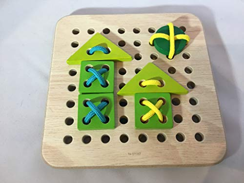 PT Creations Fidget Activity for Alzheimer's Dementia & Memory Loss - Restless Hands Wooden Lacing Block by PT Creations (Image #4)