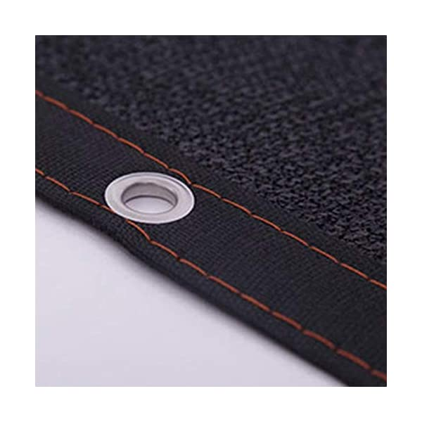 Giow - Telo protettivo per protezione solare in polietilene nero, 24 misure (colore: nero, dimensioni: 6 x 6 m) 5 spesavip
