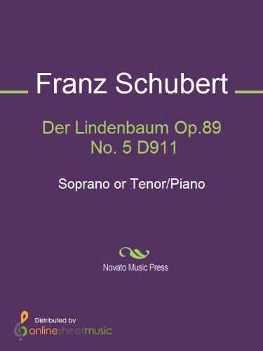 Der Lindenbaum Op.89 No. 5 D911 - Score and Parts