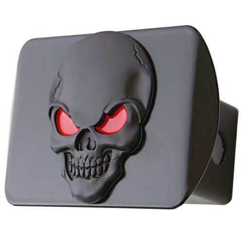 LFPartS 100% Metal Skull 3D Emblem Trailer Hitch Cover Fits 2