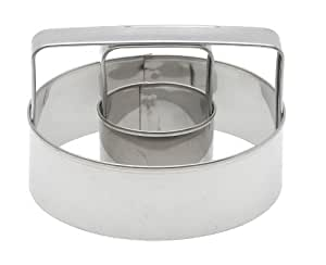 Mrs. Anderson's Baking Donut Cutter with Handle, Stainless Steel, 3-Inches x 3-Inches