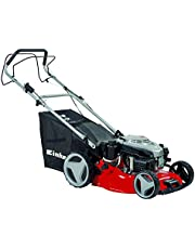 Save on Einhell GC-PM 46/2 S HW-E Self Propelled Petrol Mower with 46 cm Cutting Width and High Wheels and Electric Start - Red and more