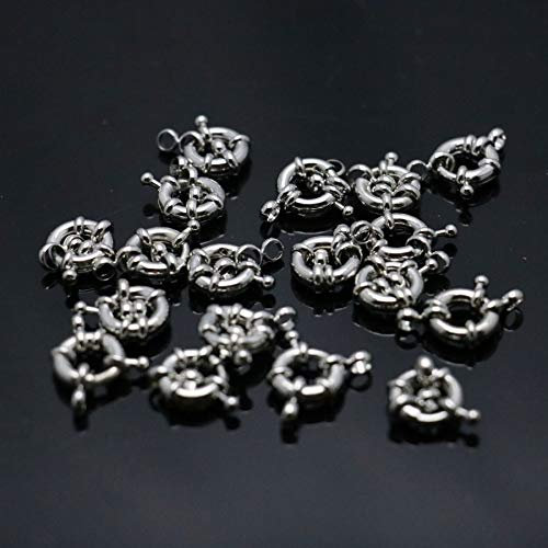 (Button Fittings Accessory | Metal Silver-Plate for Necklaces, Bracelets | Machining Parts Snap Jewelry (10pcs, 11mm))