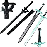 Top Swords Sword Art Online Kirito Sword Set Elucidator/Dark Repulsor v2 (HK-3025 HK-026-2)