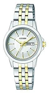 Citizen Women's Quartz Watch with Black Dial Analogue Display Quartz Stainless Steel EQ060855AE