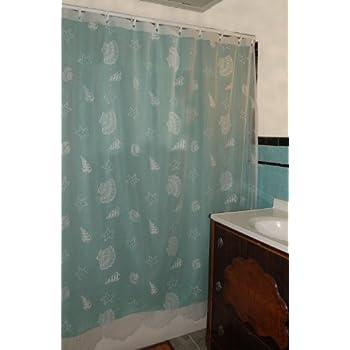 Curtain Chic Seashells Lace Shower Curtain, White