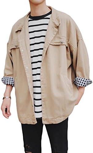 ジャケット 長袖 春服 メンズ アウター 無地 折り襟 ハンサム シンプル スタジャン カジュアル風 ゆったり コート 韓国風 オシャレ 男性用