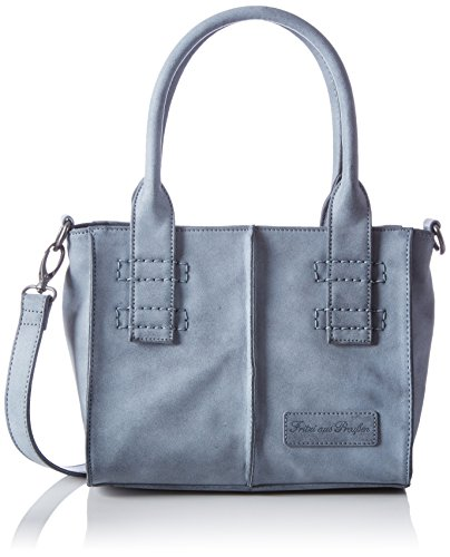 Fritzi aus Preußen Women's Caro Top-Handle Bag Blue Blau (Blue-Si) - more-bags
