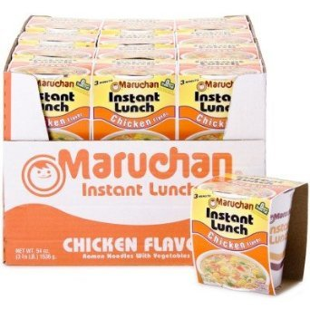 Instant Ramen - Maruchan Instant Lunch Chicken Flavored Cup Noodle, 24 Pack
