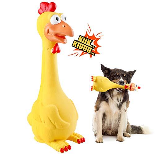 G.C Hundespielzeug Große Hunde, Hund Kauspielzeug Quietschspielzeug, Hähnchen intelligenz unzerstörbares Natürliches…