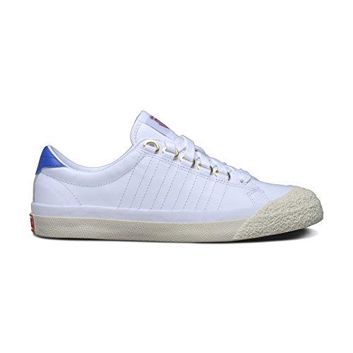 K-Swiss Women's Irvine? OG 50th 50th/White/Classic Blue/Ribbon Red Leather Sneaker 11 B (M)