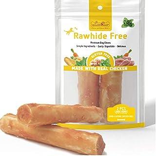 "LuvChew Gluten Free Rawhide Free Long-Lasting Chicken Rolls Large 7"" 2pcs/Pack"
