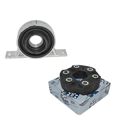 BMW E60 E61 E63 E64 Driveshaft support + Driveshaft Flex Disc Joint Set 2 - Shaft Joint Set