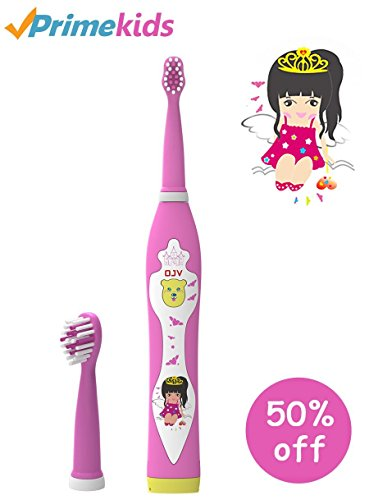 OJV Kids Electric Toothbrush Kids Tooth Brush Sonic Music Child Electric Toothbrush Waterproof Rechargeable Children Toothbrush for Kids Ages 3+