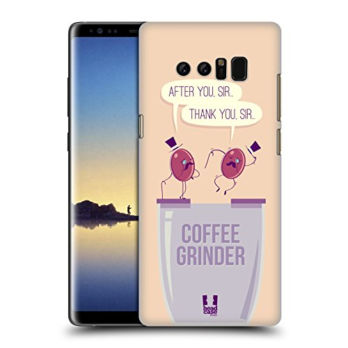 Head Case Designs Grinder Waggish Coffee Bean Hard Back Case for Samsung Galaxy Note8 / Note 8