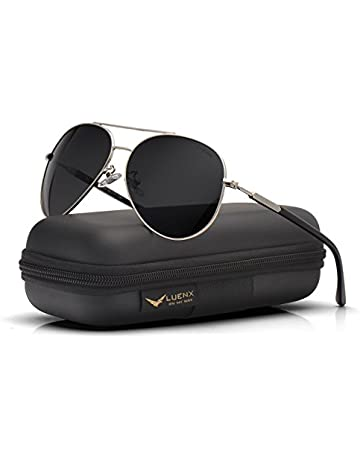 d4c02d8a47f2 Men Aviator Sunglasses Polarized womens - UV 400 Protection with case  60MM(black) by. Upcoming Deal