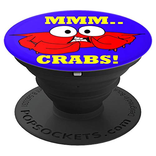 MMM Crabs Eat Feast Steamed Claws - PopSockets Grip and Stand for Phones and Tablets