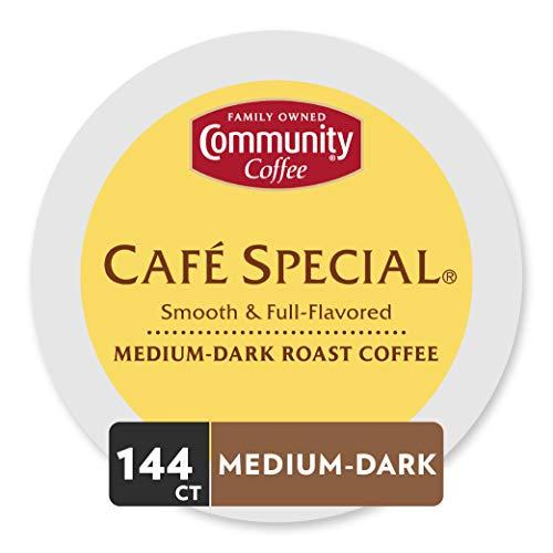 Community Coffee Medium-Dark Roast Single Serve Coffee Pods, Community, 144 Count