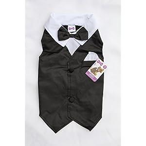 Dog Tuxedo Vest Wedding Party Attire Costume for Small and Medium Dogs (Medium)
