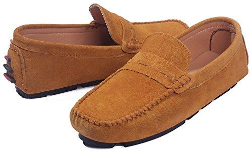 Tessuto Marrone Suede Scarpe Puro Shoes Basso AgeeMi Uomo Tacco Uomo da Lucido H0q4P0twC