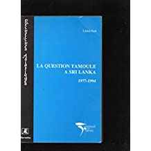 Question tamoule a sri lanka 1977-1994 l