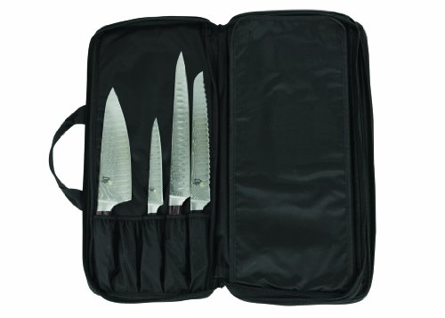 Shun DM0822 20-Slot Chef's Knife Case (Kershaw Steak Knife Set)