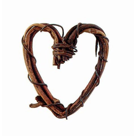 Bulk Buy: Darice DIY Crafts Mini Grapevine Heart Natural 1 inch (6-Pack) 2825-15 (Wreath Mini Heart)