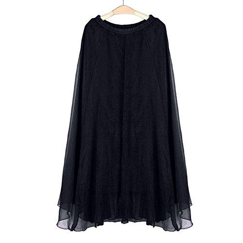 Hmlai Women Elephant Women's One Piece Casual Elastic Skirt Waist Chiffon Long Maxi Beach Dress