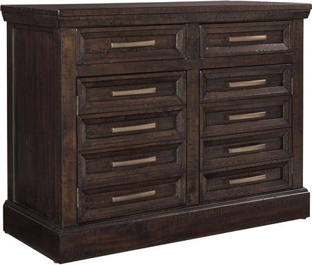 "Ashley Townser H636-60 44"" Credenza with 2 Top Drawers 2 Bottom Doors Wide Hand Pulls and Milled Wood Texture in Greyish Brown"