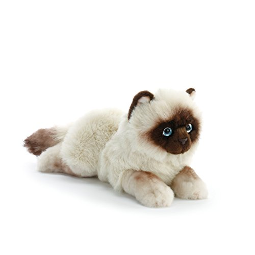(Nat and Jules Lounging Large Siamese Cat Children's Plush Stuffed Animal Toy)