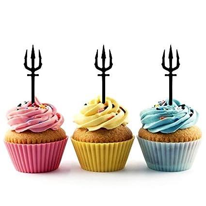 Pitchfork Trident Arrow Cupcake Cake Topper para tartas ...