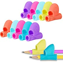 Sumind 12 Pieces Pen Writing Grip Pencil Holder Writing Correction Posture Correction Claw Tool for Pencils