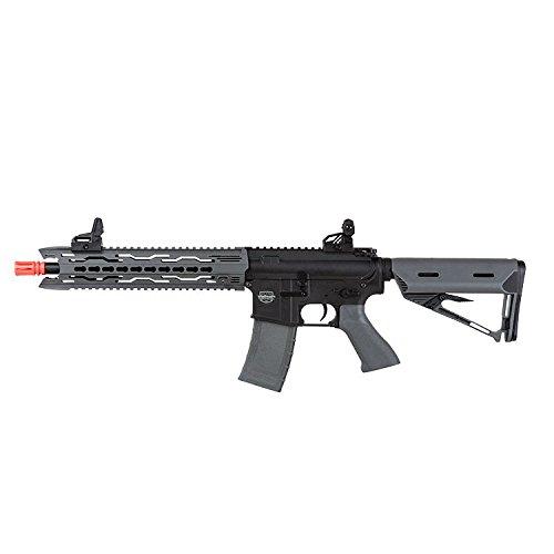Valken Tactical AEG V2.0 TRG Battle Machine Airsoft Rifle, Black/Gray, Medium