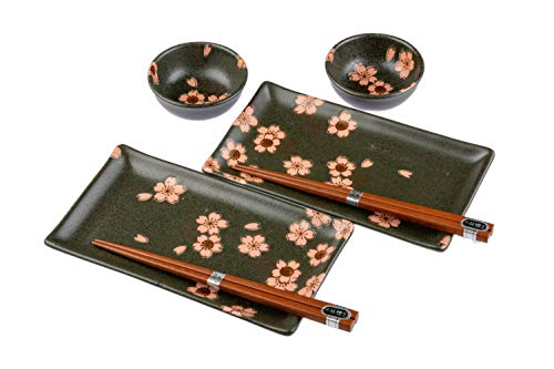 - SUSHI SET Cherry Blossom, with Gift Box, Made in Japan