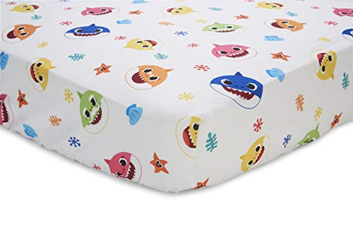 Baby Shark 4 Piece Toddler Bedding Set - Includes Quilted Comforter, Fitted Sheet, Top Sheet, and Pillow Case 3