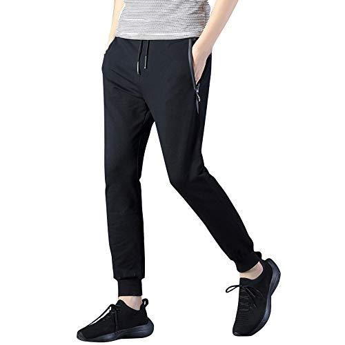 Mens Fashion Casual Feet ALIKEEY Tethers Small Pants Belts Trousers Negro Elastic RdaCgq5