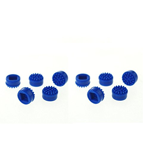 10x Laptop Keyboard Mouse Stick Point Blue Silicone Cap Trackpoint for HP Toshiba (Tablet Tc1000 Series)