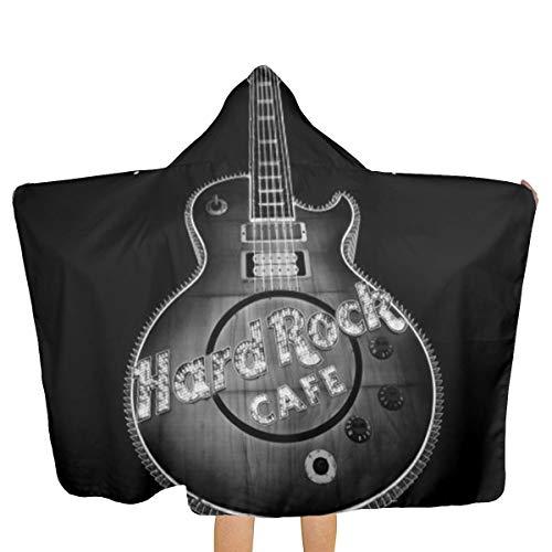 Daimaoshatan Hard Rock Cafe Las Vegas Kids Hooded Beach,Pool & Bath Towel Soft Microfiber Multi-Purpose Poncho Swim Cover Changing Robe Fun Multi-use for Bath Shower Pool Swim 32x51 Inch ()