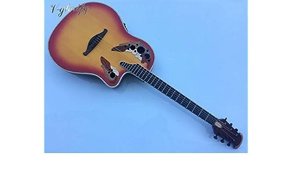 Guitarra acústica eléctrica, modelo de espalda redonda de 41 ...