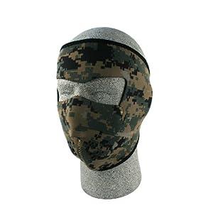 ZANheadgear Digital Neoprene Face Mask (Green Camouflage)
