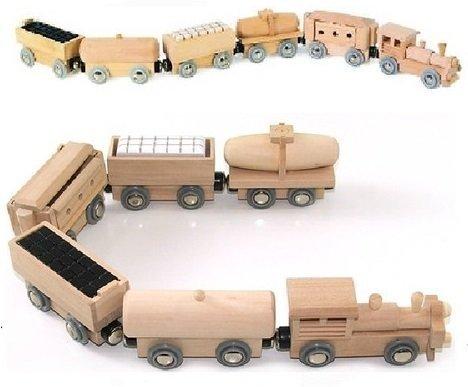 Holzern Brio ELC Passend groß Magnetisch Druck/Zieh Spielzeug Zug & Fünf Wagen