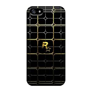 Iphone 5/5s FxerDaE2759LCppr Gold Lattice Tpu Silicone Gel Case Cover. Fits Iphone 5/5s