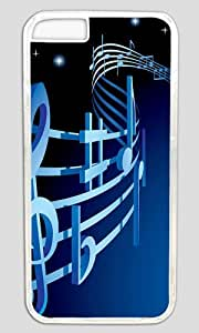 Abstract Musical Notation DIY Hard Shell Transparent Best Designed iphone 6 Case